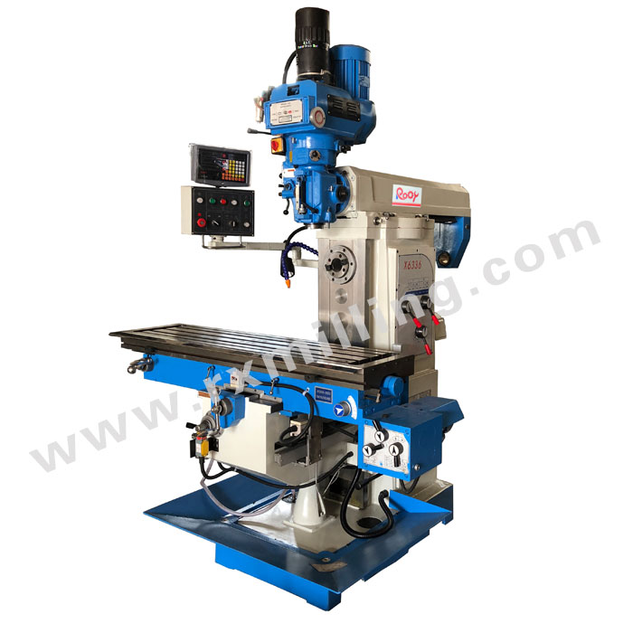 X6336 universal milling machine with 3-axis DRO
